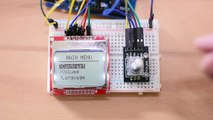 HDD Motor as Rotary Encoder using LM358 and Arduino with 14 LED