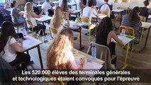 Baccalauréat: début des épreuves du bac