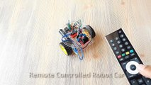 Arduino Project 14  Remote Controlled Robot Car (TV - Infrared Remote (I
