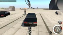 2 CARS 1 POLE! - BeamNG Drive Clotheslining Cars With A