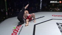 MMA : combat fini en 9 sec après un violent coup des les parties... Douloureux