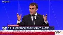 """Macron aux investisseurs: """"Je veux que vous puissiez vous enrichir mais ne soyez pas égoïstes"""""""
