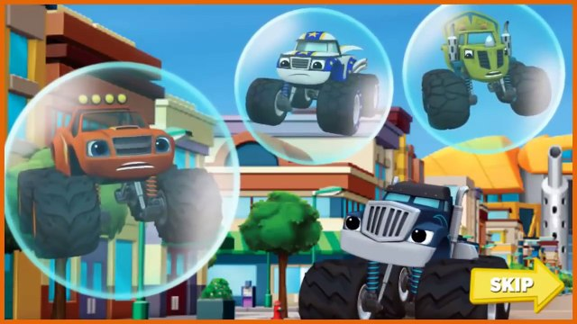 Blaze and the Monster Machines Blaze Race To The Rescue Episode Cartoon Game Trouble Truck #14,Animated cartoons tv series 2017