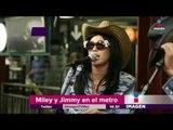 Miley Cyrus y Jimmy Fallon sorprenden en el metro | Imagen Noticias con Yuriria Sierra