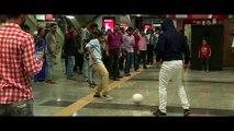 Carles Puyol plays football at Andheri Metro Station in Mumbai