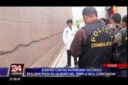 Cusco: autoridades investigan pintas hechas en Coricancha