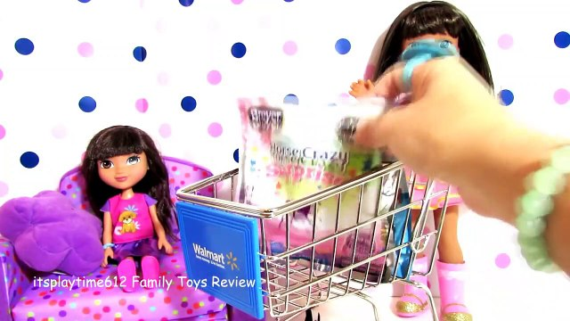 SURPRISE TOYS IN WALMART SHOPPING CART with AG Doll