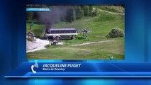 Hautes-Alpes : une gare de départ d'un télésiège en flammes dans le Dévoluy