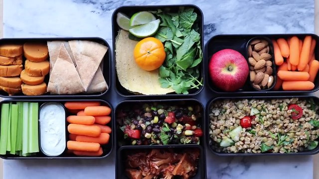 Easy Vegan Lunch Ideas for School or Work    Bento Box