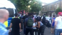 Grenfell Protesters Chant 'Peace, Peace' As Scuffles Break Out