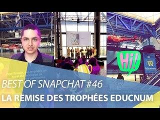 Best-of Snapchat #46 : La remise des trophées EDUCNUM (CNIL)