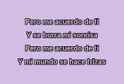 Christina Aguilera - Pero me acuerdo de ti (Karaoke)