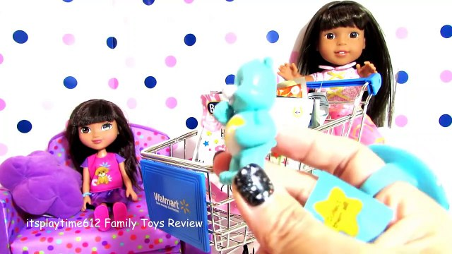 SURPRISE TOYS IN ART SHOPPING CART with AG Doll Ashlyn _ its