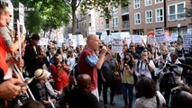 Hundreds march on Downing Street and call for Theresa May to step down