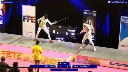 FDJ - Fleuret dames - Finale Thepaut / Fei - Tireurs nés en 2002