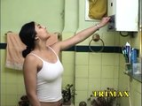 arabic girl in bathroom.--Hd