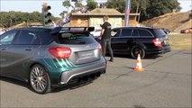 Mercedes-Benz A45 AMG vs. Mercedes-Benz C63 AMG Estate - DRAG RACE!-KTrJVoXh8iw
