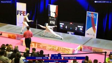 FDJ - Finale Fleuret Dames Karina-Alecsandra Vasile vs Cyrielle Darde