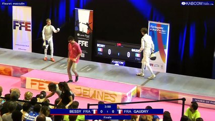 FDJ - Finale Fleuret Hommes Axel Gaudry vs Alexis Bessy