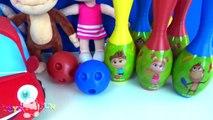 Kukuli Bowling oynuyor - Tinky Minky Kukuli Bowling turnuvası yapıyor  Kukuli Bowling seti challenge