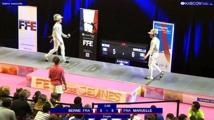FDJ - Finale Sabre Hommes François Maruelle vs Gabin Berne