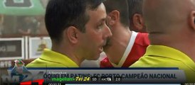 CONFUSÃO entre jogadores do Benfica e equipa de arbitragem no Hóquei em Patins