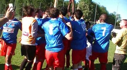 La joie de l'AS Bellecour-Perrache après la victoire dans la finale excellence