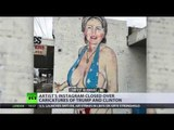 Censorship Wins: Clinton bikini to Niqab mural to black wall