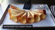 Make Your Own Ice Cream Cones! How to Make Crispy Sugar Cones - Ice Cream Cone Recipe