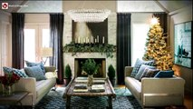 Modern Holiday Makeover. Living Room and Mantel Decor. Modern Holidays Decorations for Living Room