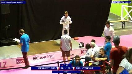 FDJ - N1 - Epée Hommes par équipes Lyonnais 1 vs Ile de France Ouest 1