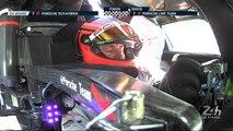 24 Heures du Mans 2017 - Émotions du pilote Timo Bernhard au moment de franchir la ligne d'arrivée