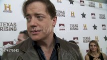 Brendan Fraser on learning to ride horses , his role in Texas Rising & Texas