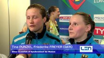 European Diving Championships -Kyiv'17- Tina PUNZEL, Friederike FREYER (GER) - Silver medalists of Synchronised 3m Women