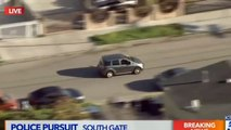 Los Angeles Police Chase Crazy Mercedes-Benz Driver - video