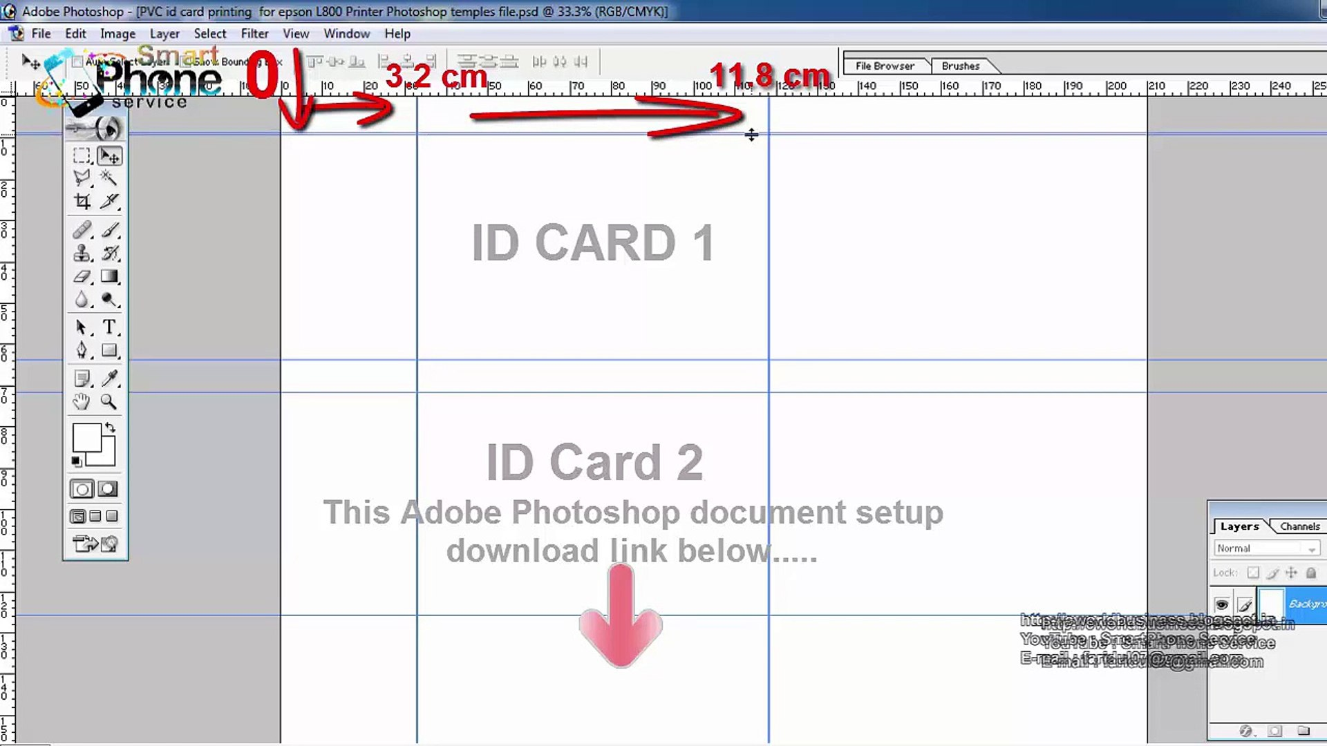 Pvc Id Card Printing Page Layout Template Forasd Epson L800 L805 L810 L850 Video Dailymotion
