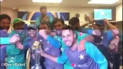 Pakistan dressing Room celebration after Winning Champions Trophy 2017 Final