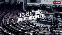 Les réactions des militants du Front national à Hénin-Beaumont à 21h