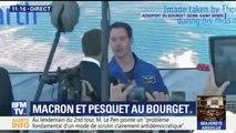 La rencontre entre Emmanuel Macron et Thomas Pesquet au salon du Bourget