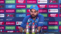 virat kohli is angry on pakistani reporter after india vs pakistan final ! champions trophy final