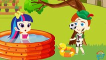 PRINCESS's Understood As Prince Defecates In An Outdoor Pool! Finger Family Songs Nursery