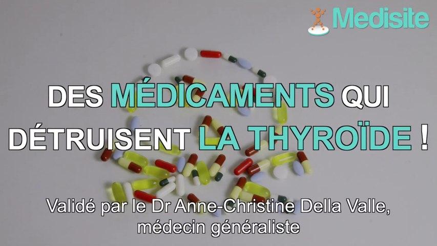 Top 3 des médicaments dangereux pour la thyroïde