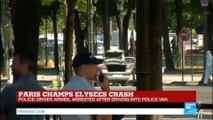 Paris Champs-Élysées crash: Kalashnikov, handguns, gas bottle found in car