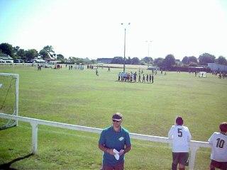 Entrée des joueurs lors du tournoi jeunes du 17 juin 2017