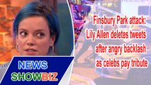 Lily Allen deletes tweets after angry backlash as celebs pay tribute