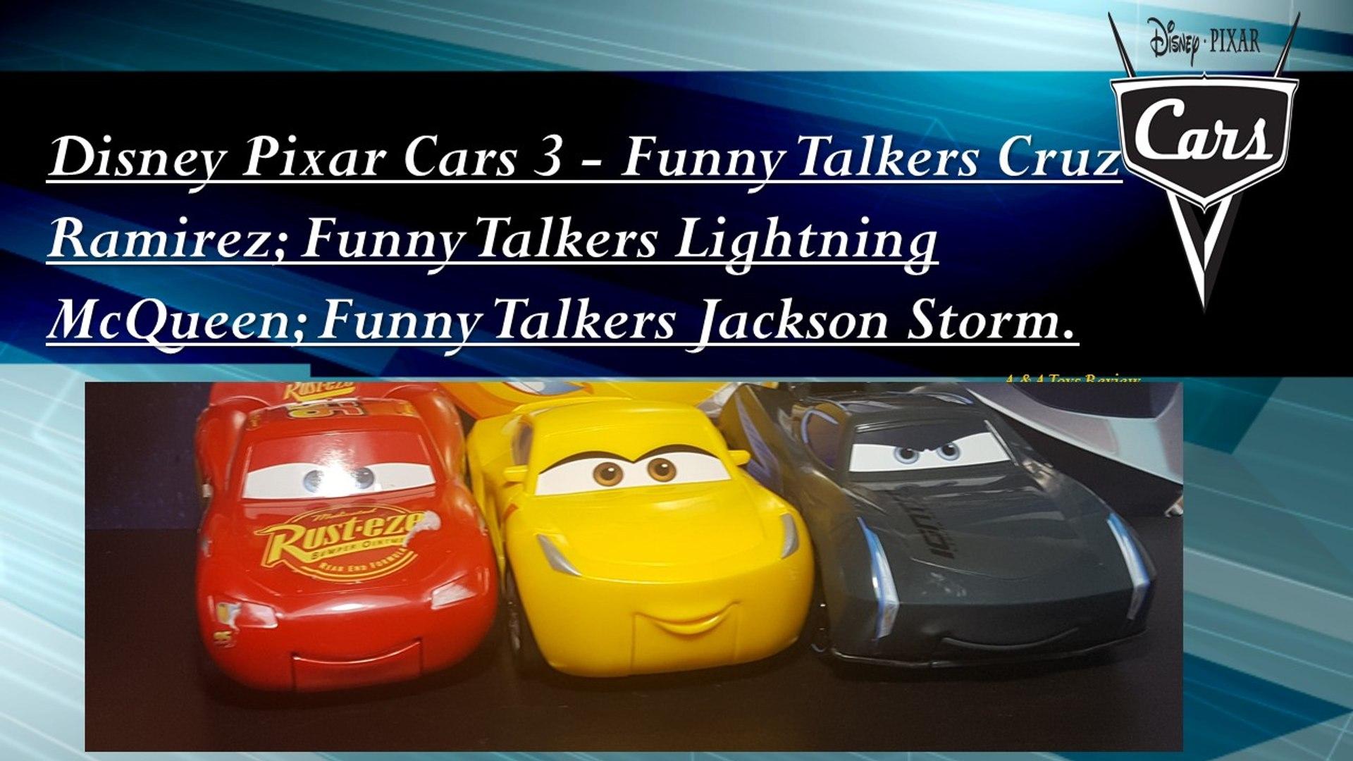 Car 3 Funny Talkers Lightning Mcqueen Jackson Storm Cruz Ramirez