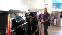 388.David Beckham Looks So Proud Of Birthday Girl Harper Arriving In L.A.