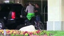 386.Arnold Schwarzenegger Looking Beat After Biking In Santa Monica