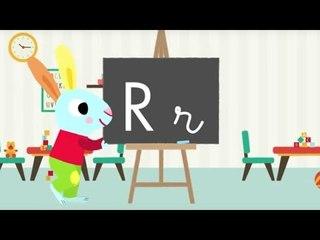 Les lettres de l'alphabet - Apprendre à écrire le R avec Pinpin et Lili