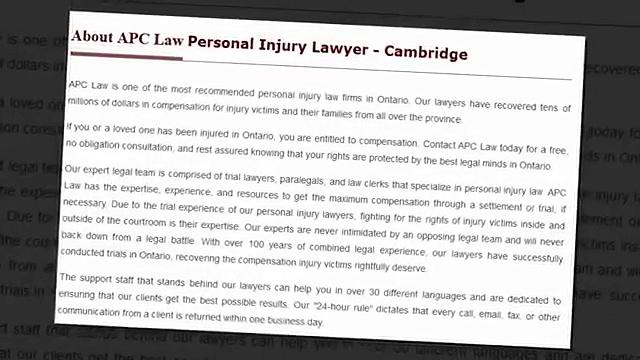 Personal Injury Lawyer Cambridge – APC Personal Injury Lawyer (519) 957-2044